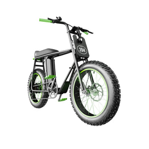 UNI Bobber LT Electric Bike Black Green with 250W and 20x4inch fat wheels