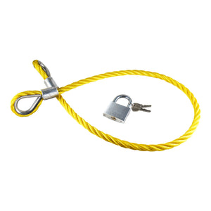 Steel Cable Bicycle Lock Yellow Handmade in Germany UNI Moke