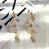 Flowers Tassel Earrings