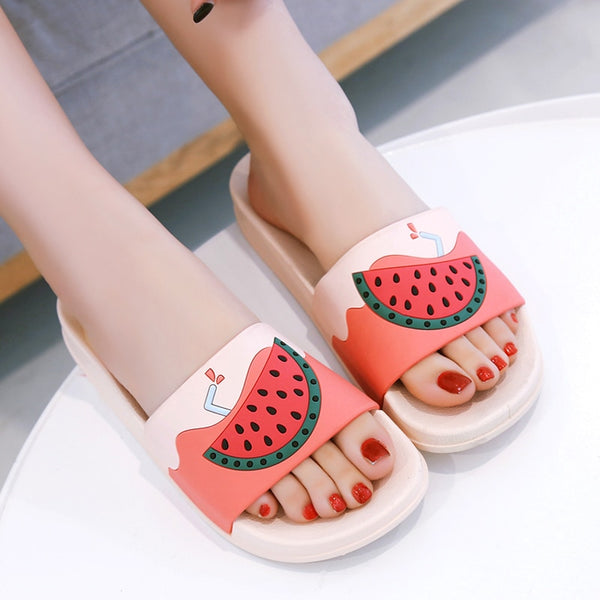 Cartoon Fruit Women Slippers