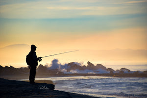 Fisherman in Silhouette