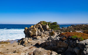 Rocks along the Pacific Grove Shoreline Parkway