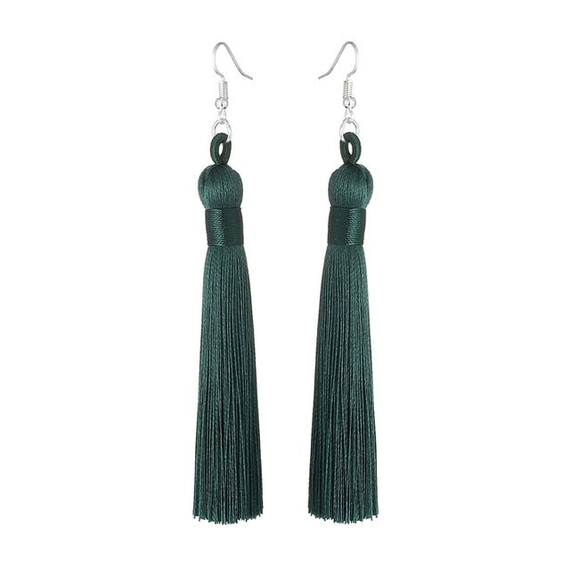 Boho Drop Tassel Dangle Earrings - Jewellica.com