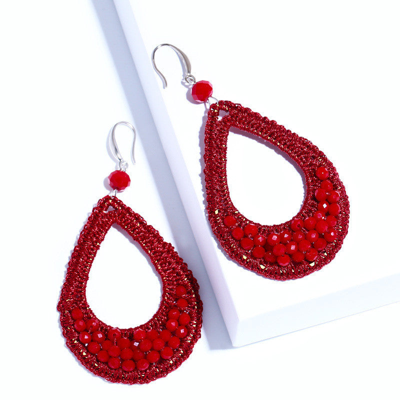 Bohemian Beaded Drop Earrings - Jewellica.com