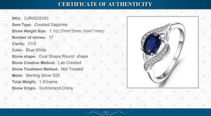 1.1ct Created Blue Sapphire Ring - Jewellica.com