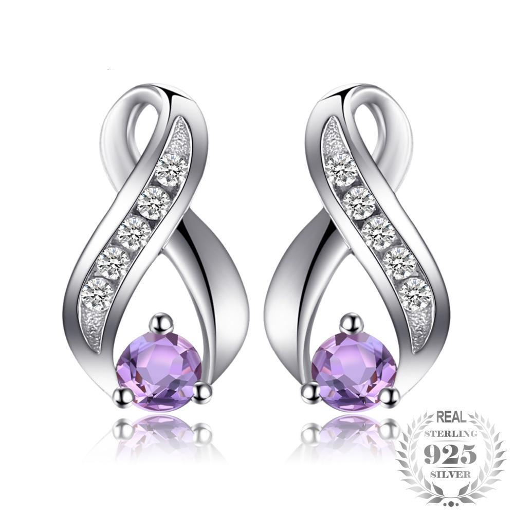 Amethyst Sterling Silver Drop Earrings - Jewellica.com
