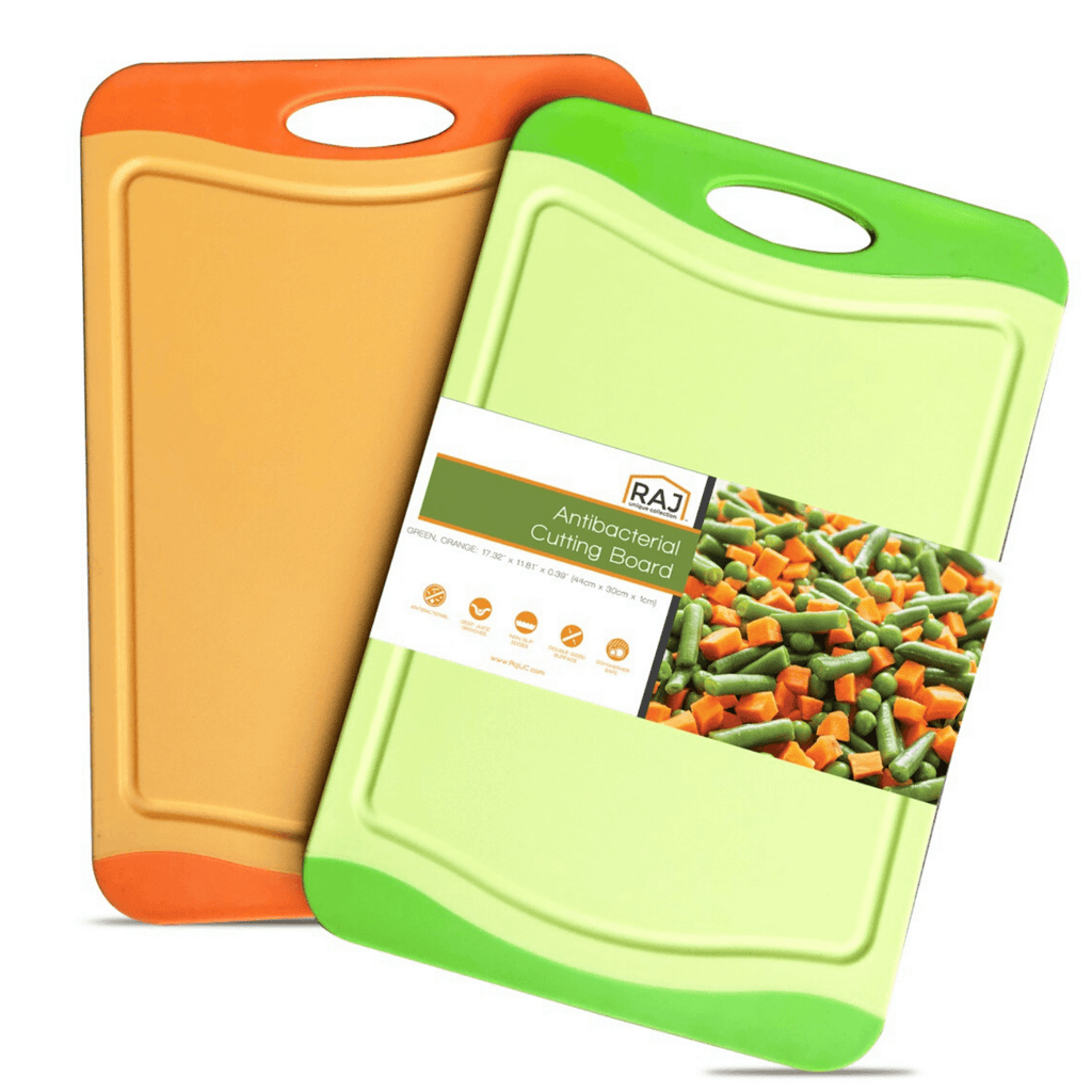 Raj Plastic Cutting Board Reversible Cutting board, Dishwasher Safe, Chopping Boards, Juice Groove, Large Handle, Non-Slip, BPA Free