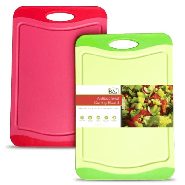 Red and Green Cutting Board - 12 x 8