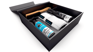The Captician Stain removal kit inside storage box. Easily clean stains from your caps