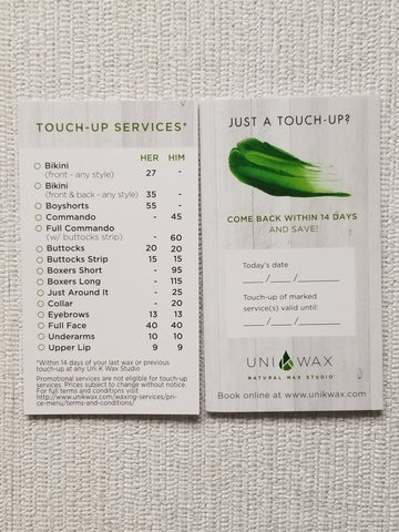 Touch-up Cards