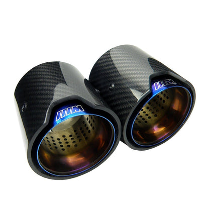 BMW Blue M Performance Style Carbon fibre Exhaust tips for the M135I m140I BMW 1 Series