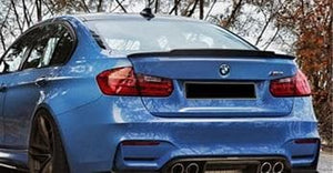 BMW F30 F80 M3 3 Series Carbon Fibre Exotics Style Rear Lip Spoiler (2012 - 2018)