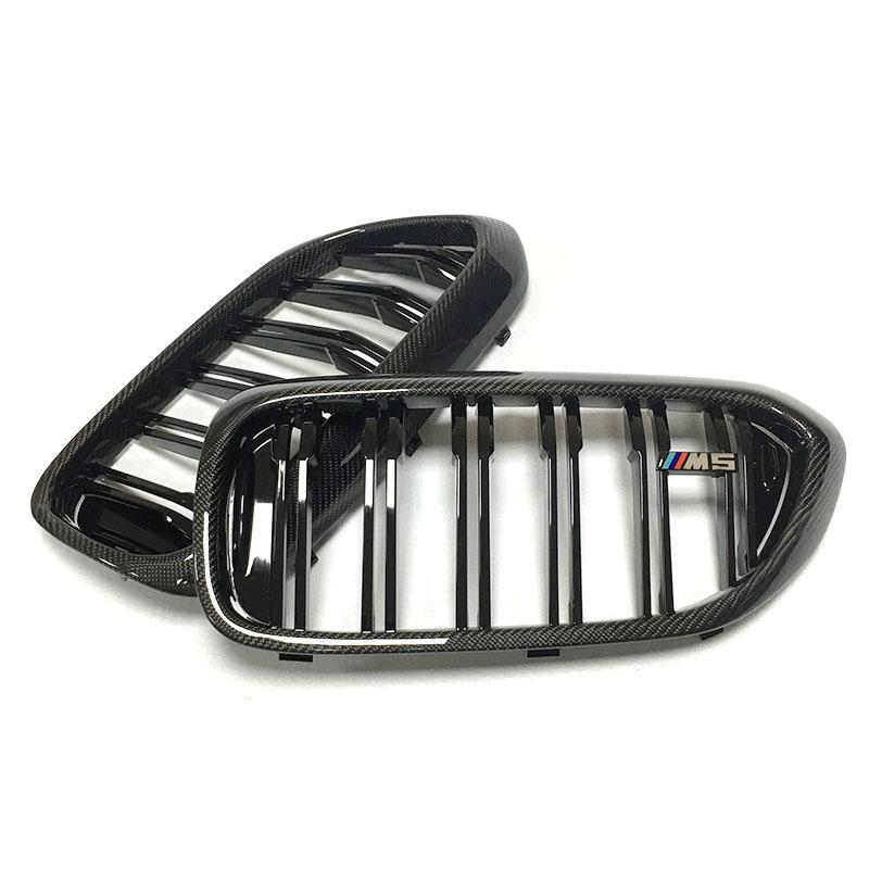 BMW F90 M5 G30 5 Series Carbon Fibre M Style Replacement Grille Set (2018 - 2020)