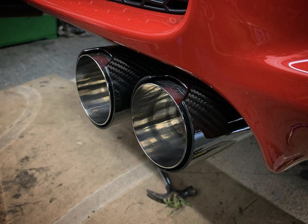 BMW E9X E90 E92 E93 M3 S65 M Performance Style Carbon Fibre Exhaust Tips (2008 - 2013)