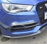 Audi S3 8V Carbon Fibre Front Bumper Fog Grille Surround (2013 - 2019) Designed to Enhance your Audi S3 Front Bumper, Bringing the 8V S3 even more aggression and style with our carbon front fog light surrounds - Audi S3 8V Saloon (2013 - 2016) Audi S3 8V Hatchback (2017 - 2019) Audi S3 8V Sportback (2017 - 2019)
