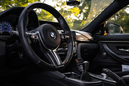 BMW F8X M2/M3/M4/M5/M6 X5M X6M Carbon M Performance Style Steering Wheel Trim Replacement 2010-2019