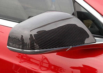 Tesla Model S Carbon Fibre Mirror Covers (Stick-On) (2012 - 2020)