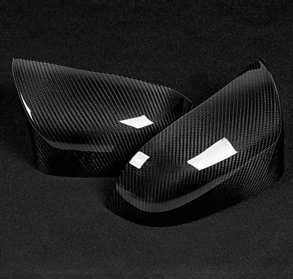 BMW F85 F86 X5M X6M Carbon Fibre OEM Style Mirror Cover (replacement) (2013 - 2018) - Give your X Series that extra bit of style with this stunning 3K Twill Weave carbon fibre OEM Style Mirror cover replacement set - Suitable Cars BMW F85 X5M Series 4 Door SUV - BMW F86 X6M Series 4 Door SUV - Free Shipping Worldwide.