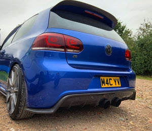 Volkswagen Golf R Mk6 Carbon Fibre Rear Diffuser Kit (2008 - 2014)