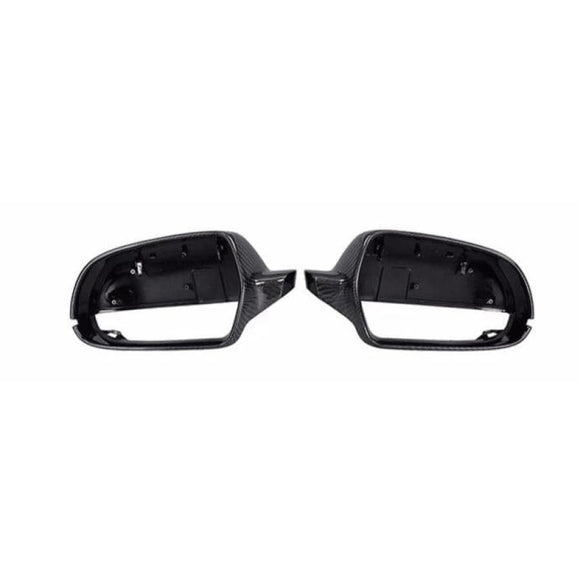 Audi A4 B8 B 8.5 (2013 - 2016) Audi 8T/8F A5 (2010 - 2015) Replacement Carbon Mirror Cover (Without Lane Assist) - MIRROR COVERS