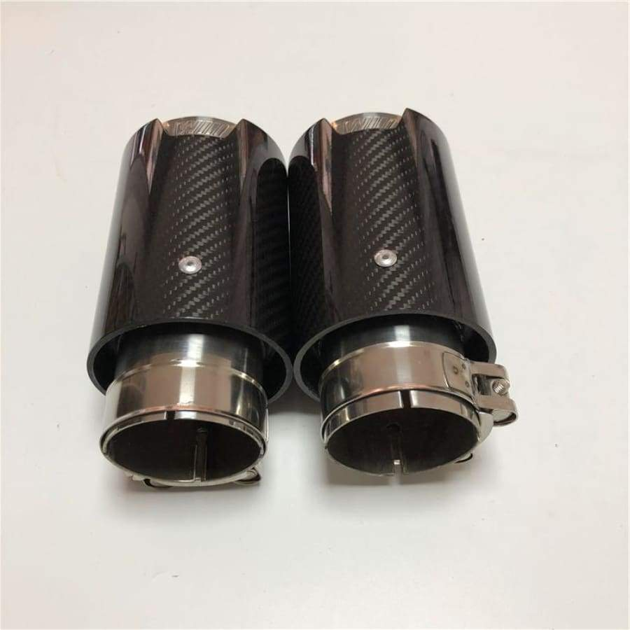 BMW E9X 335I 335D Carbon Fiber M Performance Style Exhaust Tips Set (2006 - 2013)
