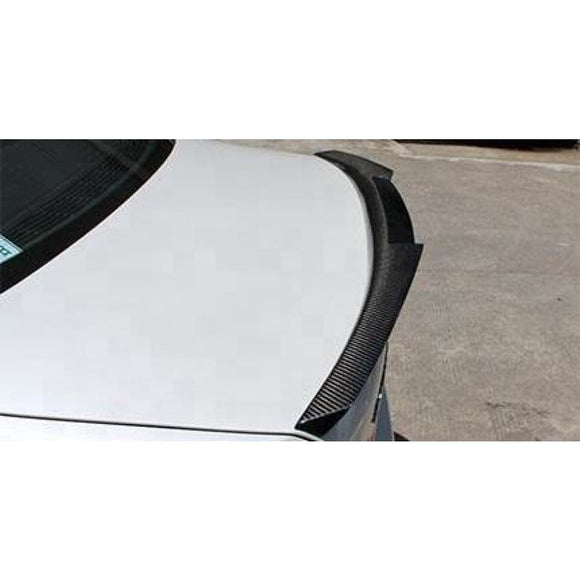 BMW E90 3 Series Carbon Fibre V Style Rear Spoiler (2005 - 2013)