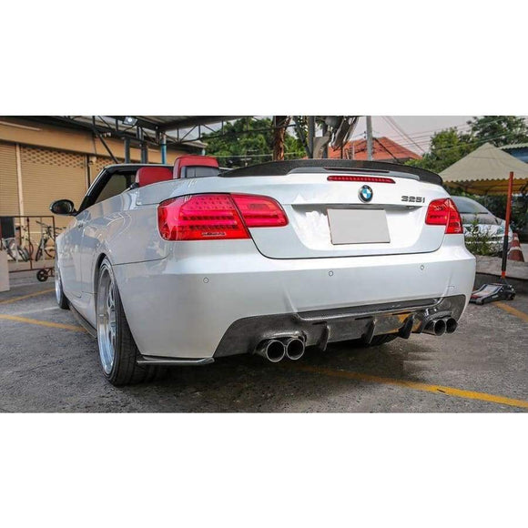 BMW E92 E93 3 Series Carbon Fibre M Style Quad Pipe Rear Diffuser (2005 - 2013)