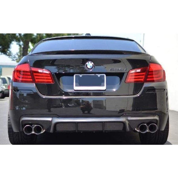 BMW F10 5 Series Carbon Fibre M Performance Style Rear Diffuser (2010 - 2017) - REAR BUMPER