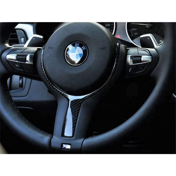 BMW F Series F2X F3X F1X M Sport Carbon Fibre M Performance Style Steering Wheel Trim Replacement (2010 - 2019)