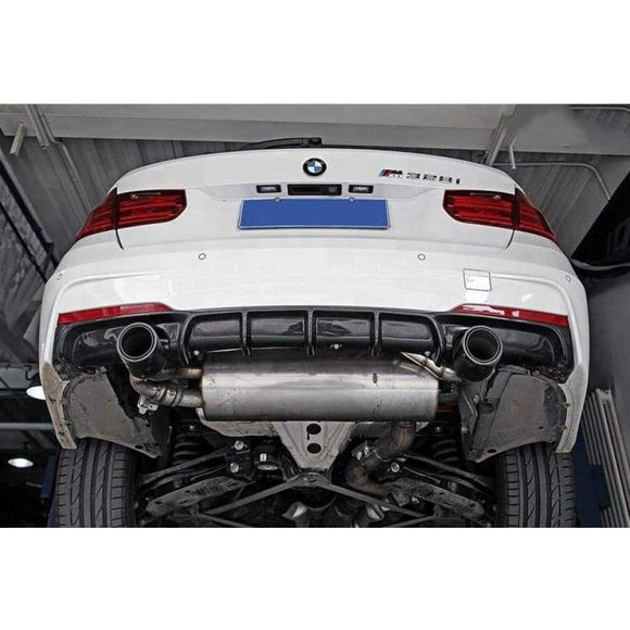 BMW F30 3 Series 335I 340I Carbon Fibre M Tech Rear Diffuser (2012 - 2018)