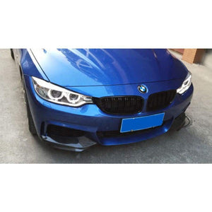 BMW F32 F33 F36 4 Series Carbon Fibre M Performance Style Front Splitter Kit (2012 - 2018)