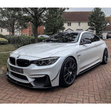 BMW F80 M3 F82 F83 M4 M Performance Style Carbon Fibre Front Lip Spoiler Kit (2012 - 2018)