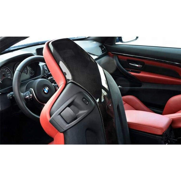 BMW F80 M3 F82 M4 M Performance Style Carbon Fibre Seat Back Covers (2012 - 2018)