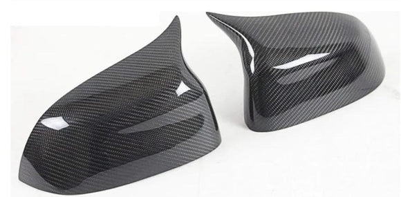 BMW F15 F16 X5 X6 Carbon Fibre M Style Mirror Cover Replacements (2013 - 2018)