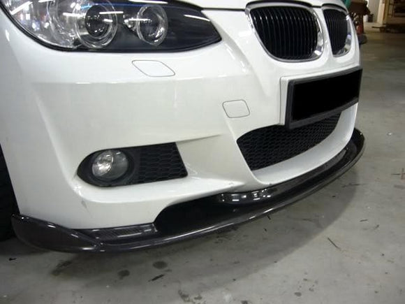 BMW E92 E93 3 Series Pre LCI Carbon Fibre M Style Front Lip Kit (2005 - 2008)