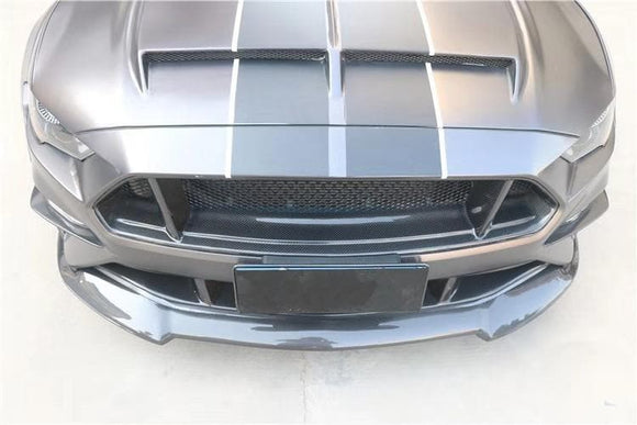 Mustang 6th Gen. Carbon Fibre Front Lip Spoiler Kit (2018 - 2020)
