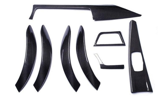 BMW F30 F31 3 SERIES STICK-ON CARBON FIBRE M PERFORMANCE STYLE INTERIOR TRIM SET (RHD) (2012 - 2018)