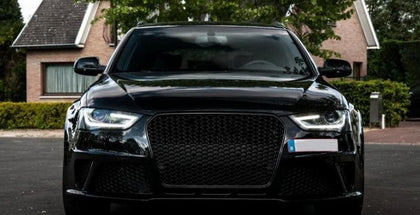 Audi B8.5 A4/S4 Face Lift Gloss Black Honeycomb RS4 Style Front Grille