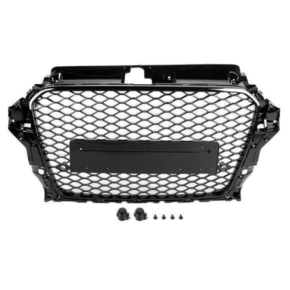 Audi 8V S3 A3 Gloss Black Honeycomb Front Grille kit (2014 - 2016)