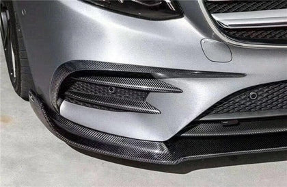 Mercedes Benz W213 E-Class AMG-Line Carbon Fibre Front Bumper Canard and Vent Covers (2016 - 2020)