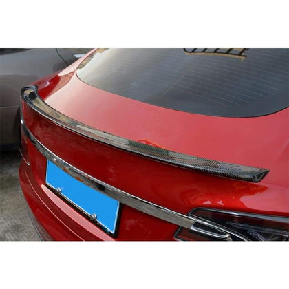 Tesla Model S Carbon Fibre Performance Style Rear Lip Spoiler (2012 - 2020)