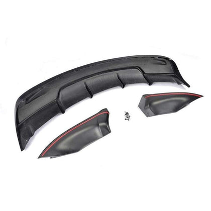 Tesla Model S Carbon Fibre Custom Style Rear Bumper Diffuser (2012 - 2020)