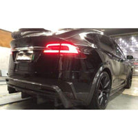 Tesla Model X Carbon Fibre Custom Style Rear Bumper Canards (2015 - 2020)
