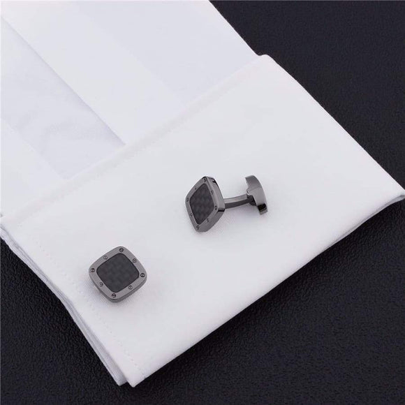 XXII Carbon Fibre and Stainless Steel Cuff Link Set - ACCESSORIES