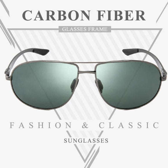 XXII Carbon Fibre Framed Polarised Aviator Sunglasses For Men - ACCESSORIES