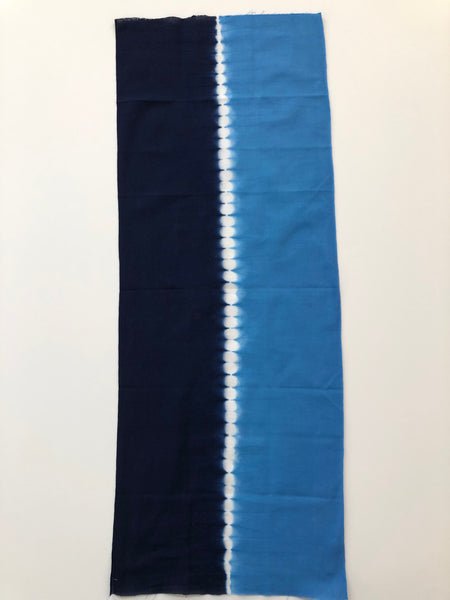 Blue Somewake Shibori Tenugui