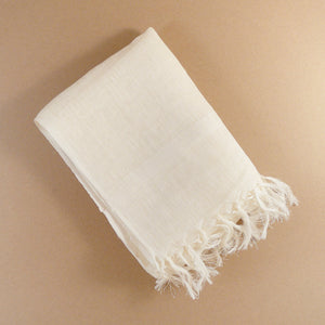 Handwoven French Linen Scarf