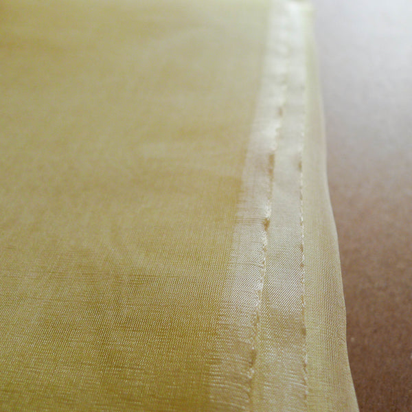 Hand-loomed Indian Yellow Silk Organza