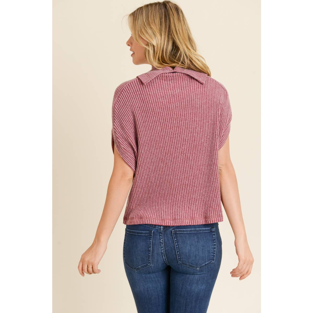 Knit top, old rose