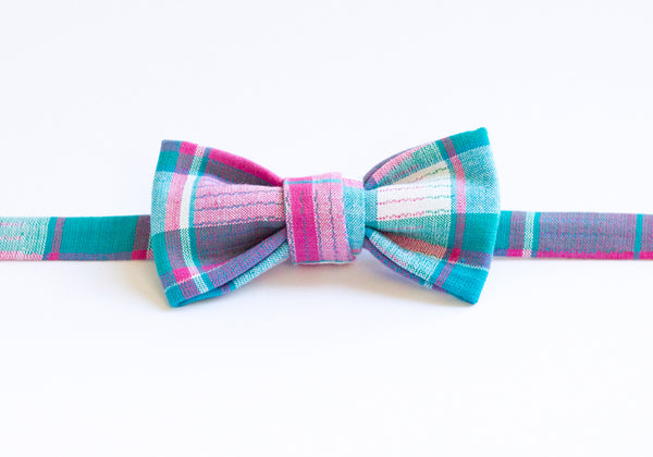 Pink & Teal Plaid